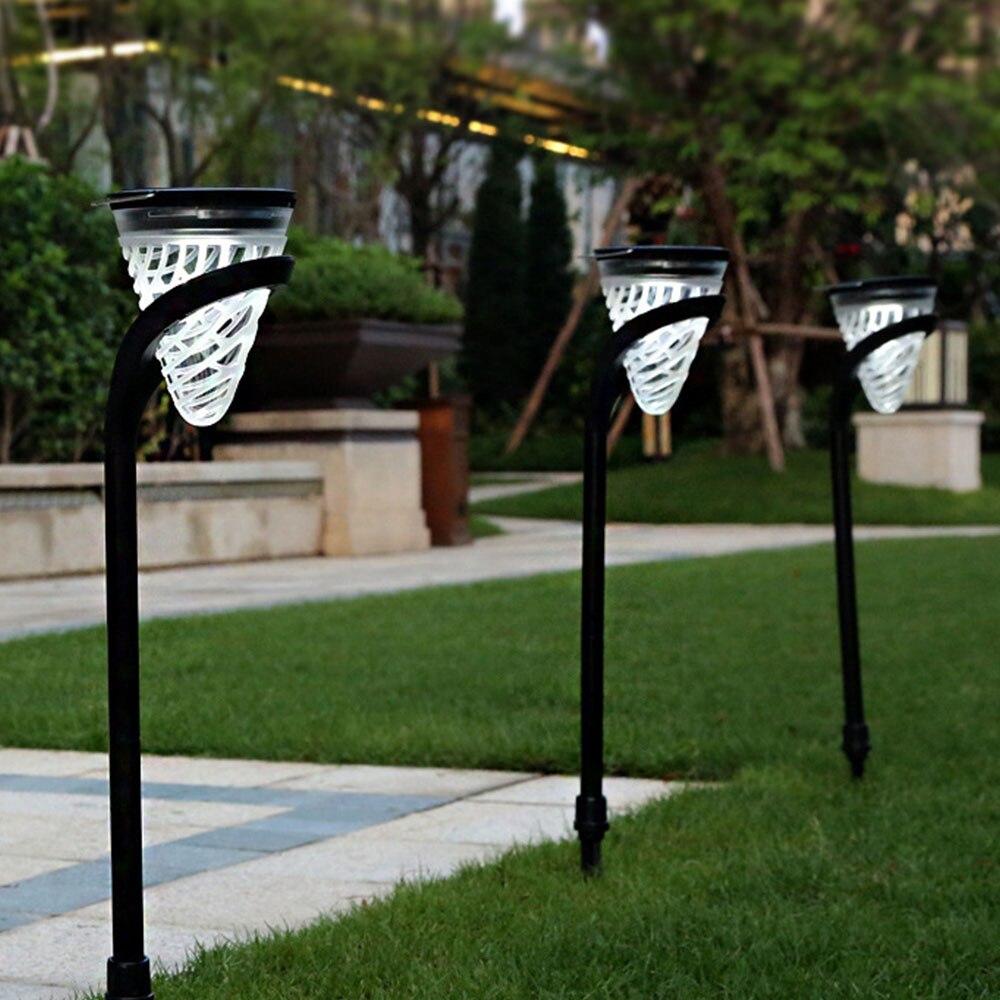 2 pièces LED jardin pelouse lampes lumière pour la décoration colonnes extérieures poste lanterne pôle lampe voie paysage éclairage étanche