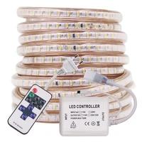 120ledsm 3014 led strip rope light 220v ac remote control dimmable flex led tape waterproof home decoration 1m 10m 20m 50m 100m