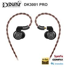 DUNU DK3001 PRO HiFi Audio 5 Hybrid Driver(1DD+ 4 Knowles BA) In-ear Earphone MMCX Detachable cable 2.5/3.5/4.4 Balanced connect