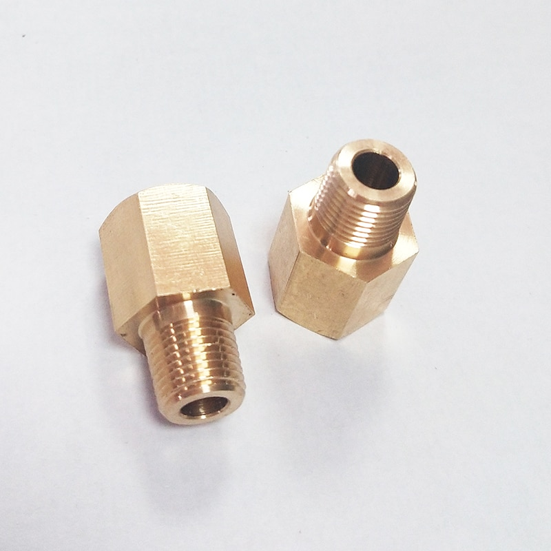 1/8 27 NPT Female to 1/8 28 BSPT BSP Male Gauge Sensor Sender Adapter Reducer 2