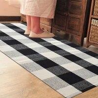 cotton plaid carpet bedroom carpet plaid floor mat door mat kitchen mat bathroom outdoor porch mat woven carpet area rug