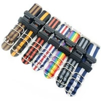 16mm adapters and hd conversion nato nylon watch band strap kit for gshock mil shock 5600 gwm5610 dw6600 gw6900 2310 ga100