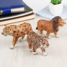 النمر/الأسد/ليوبارد/زيبرا/الزرافة حديقة الحيوان رسمت باليد خشب متين تمثال منحوتة الحيوانات الإبداعية هدية للأطفال الجنية حديقة ديكور