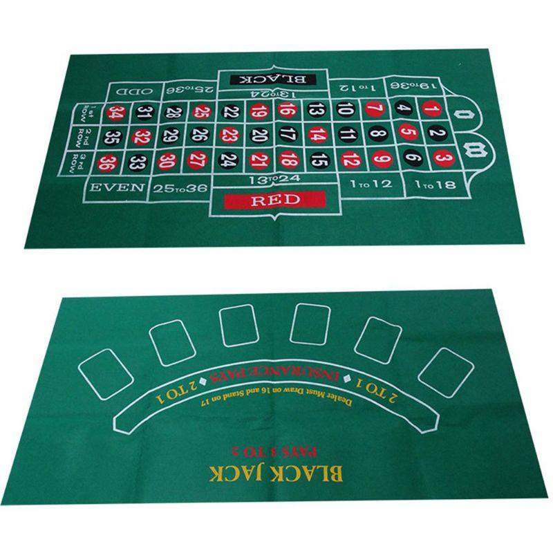 Двухсторонняя скатерть для игры русская рулетка и блэкджек игровой стол коврик K1KD-5