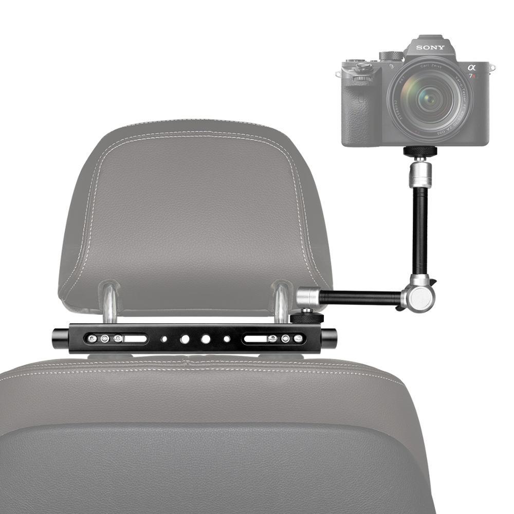 3in1 Magic Arm Heavy Duty Car Headrest DSLR Action Camer Smartphone Holder Mount Expansion Kit Vlog Rig for Canon Nikon GoPro