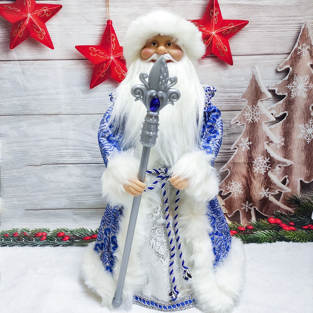 Christmas Santa Claus Electric Dolls Candy Bucket Box Toy with Music Decoration Birthday Gift Kids Home Navidad Decor Ornaments