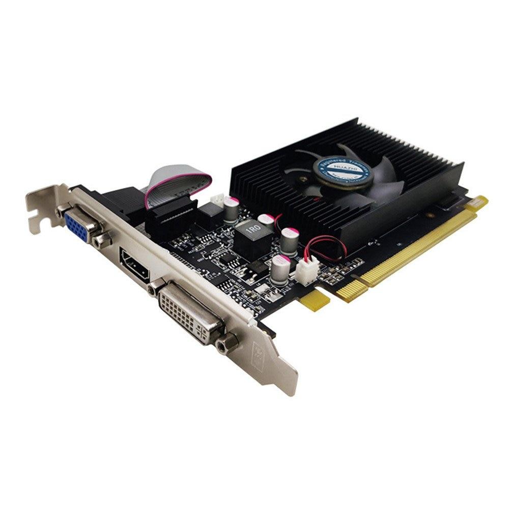 بطاقة رسومات الفيديو GT610 ، 1 جيجابايت ، DDR3 ، للكمبيوتر الشخصي ، علبة LP ، وحدة ذاكرة الفيديو ، PCI-E ، شاشة مزدوجة