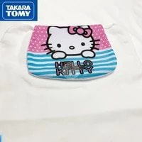 takara tomy fashion cute cartoon hello kitty sweat absorbent towel simple and comfortable pure cotton sweat proof baby back