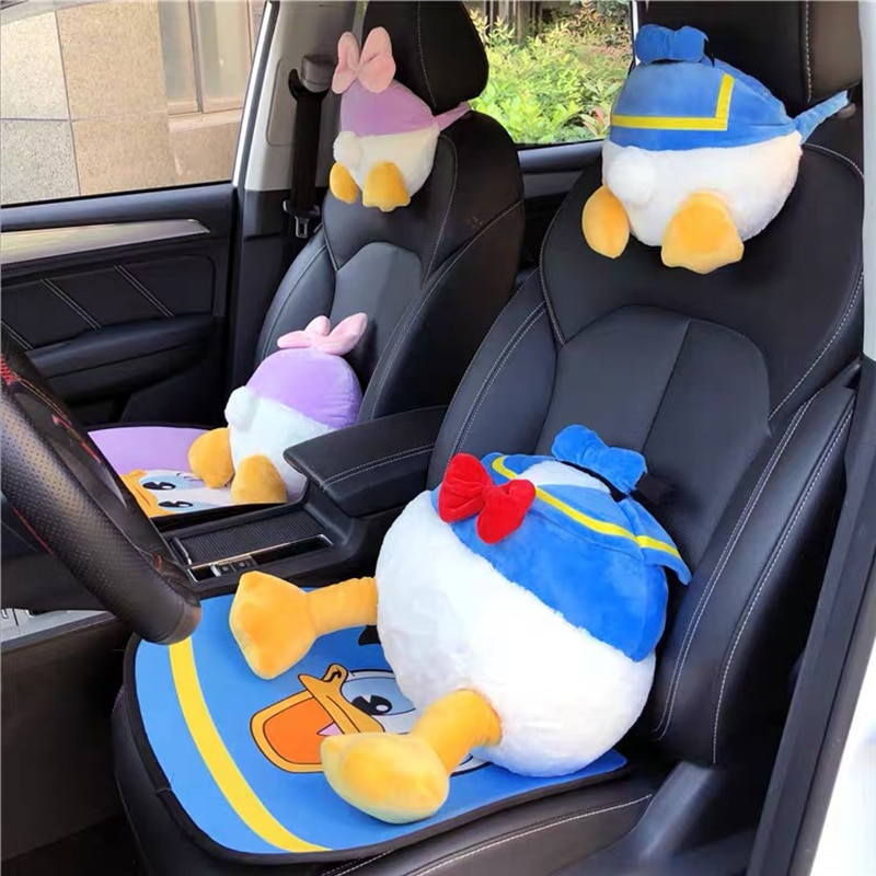 Cute Car Headrest Neck Pillow Creative Cartoon Seat Pillow Cute Plush Car Pillow Car Interior Hanging Pillow Car Accessories