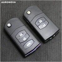 auronova new replace key shell for mazda demio 2 3 5 6 m2 m3 m5 m6 cx7 cx9 rx8 mx5 mpv replace car key fob case shell cover