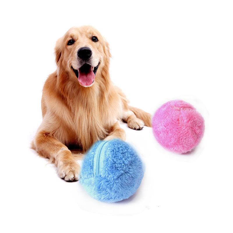 Rodillo mágico para mascotas, bola eléctrica para gatos, Bola de rodillo mágica, juguete automático, bola mágica, bola para perro, gato, Bola de juguete de peluche, suministros