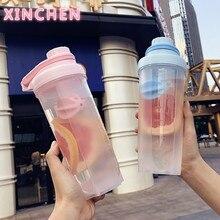 XINCHEN-bouteille en plastique, Shaker de protéines, avec couvercle de poignée de transport, échelle buccale large, rose, 500ml, 700ml oz, pour Gym pour hommes et femmes