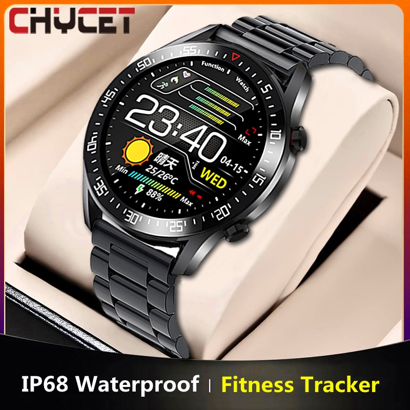 CHYCET 2021 Smart Watch Men Heart Rate/Blood Pressure Monitor IP68 Waterproof Smartwatch Women Sport