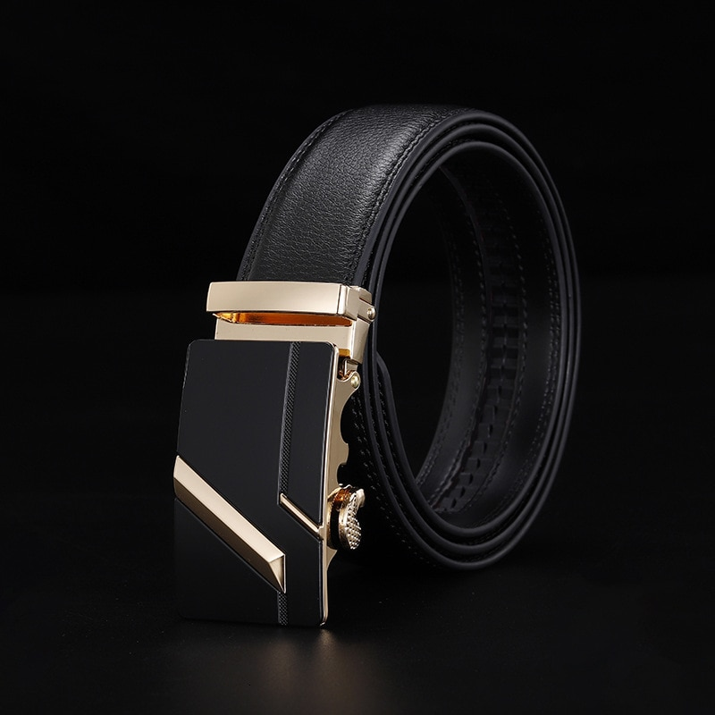 Peikong Brand Automatic Buckle Designer Men Genuine Leather Male Waist Fashion Corset Belt For High Quality Mens Belts Luxury