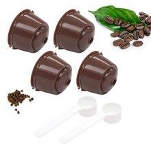 Filtros de cápsulas de café reutilizables para Dolce Gusto con filtro de café 4 Uds. Para Nespresso, con accesorios de cocina