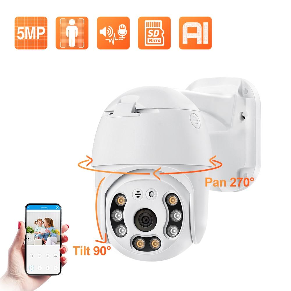 Techage 2MP 5MP PoE PTZ كاميرا IP في الهواء الطلق مقاوم للماء 2 طريقة الصوت كاميرا AI الإنسان كشف الأمن كاميرا Xmeye لنظام NVR