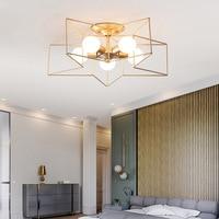 LukLoy Gold Star Ceiling Lamp Child Bedroom Lights Corridor Aisle Simple Ceiling Lights for Restaurant Cafe Decoration Lamp