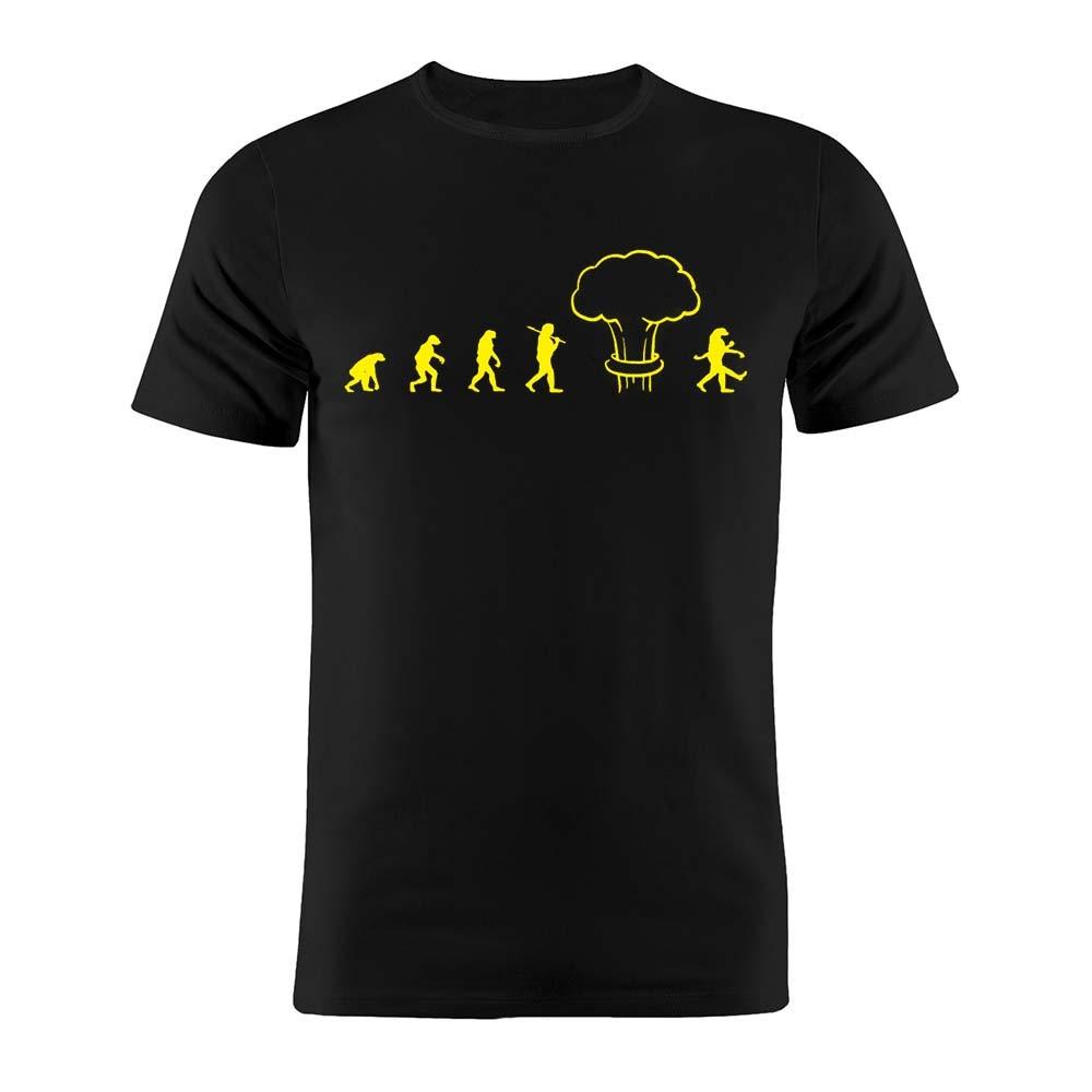 100% Cotton Unisex T Shirt Evolution After Nuclear Winter Chernobyl Geek Gift Tee