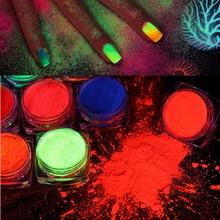 Nail Art Glitter ,Eyeshadow Nail Powder,Bright True Colors UV Glow Blacklight Luminous Pigments Fluo