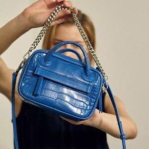 Women Crocodile Pattern Shoulder Bag PU Leather Messenger Crossbody Bag Ladies Fashion Handbags Clutch Bag Tote for Girls