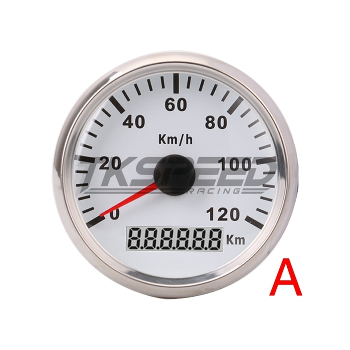 85mm GPS Speedometer Stainless Steel Waterproof Gauge 120KM / H Speed for Car Truck 12V 24V  - buy with discount