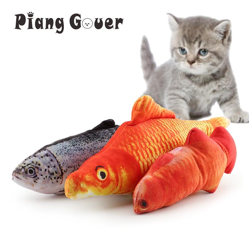 Милая плюшевая игрушка для домашних животных котенок Жевательная кошка игрушки кошачья мягкая рыба интерактивный продукт для домашних животных