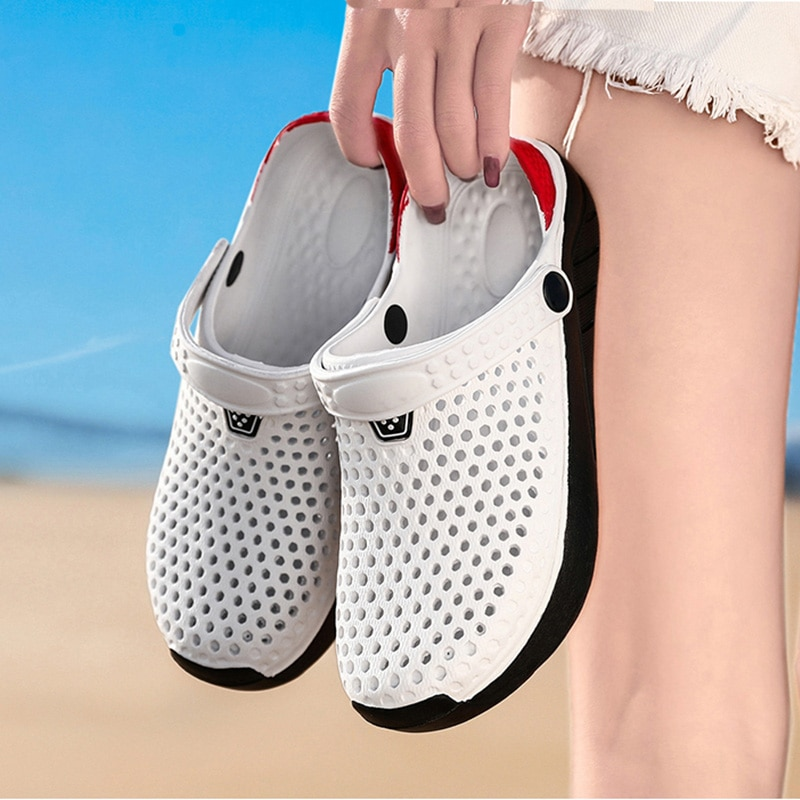 Sandals for Women Men Breathable Beach Shoes Fashion Garden Clog Aqua Shoes Trekking Wading  Size 36-45