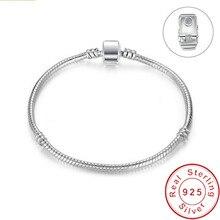 Grande vente à la main Original 925 en argent Sterling serpent os chaîne Bracelet & Bracelet bijoux de luxe 16-21CM Bracelet pour femmes cadeau