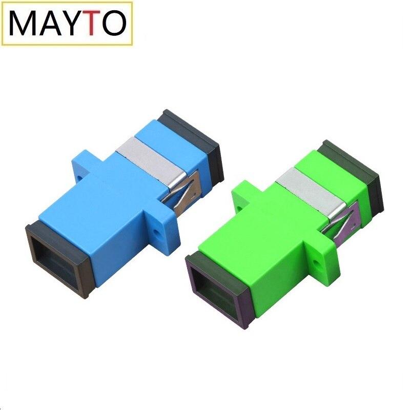 Оптовая продажа, оптовая продажа, 50-200 шт., SC APC/UPC Волоконно-оптический соединитель, адаптер, фланец, одномодовый соединитель