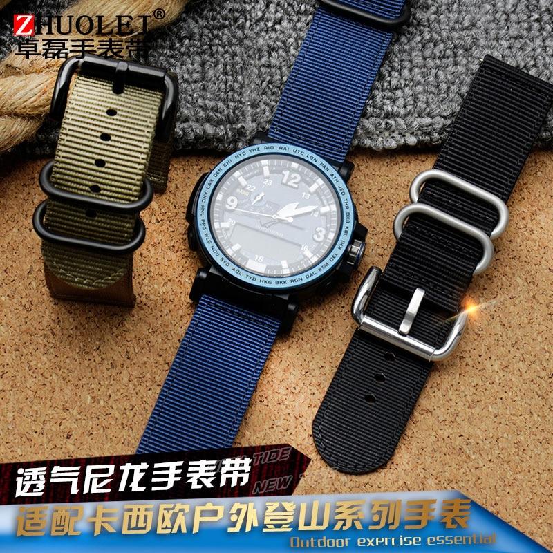 Para Casio reloj de lona de nailon con PRG-600YB/PRG-650/GA-2000 Cadena de reloj deportivo para hombre