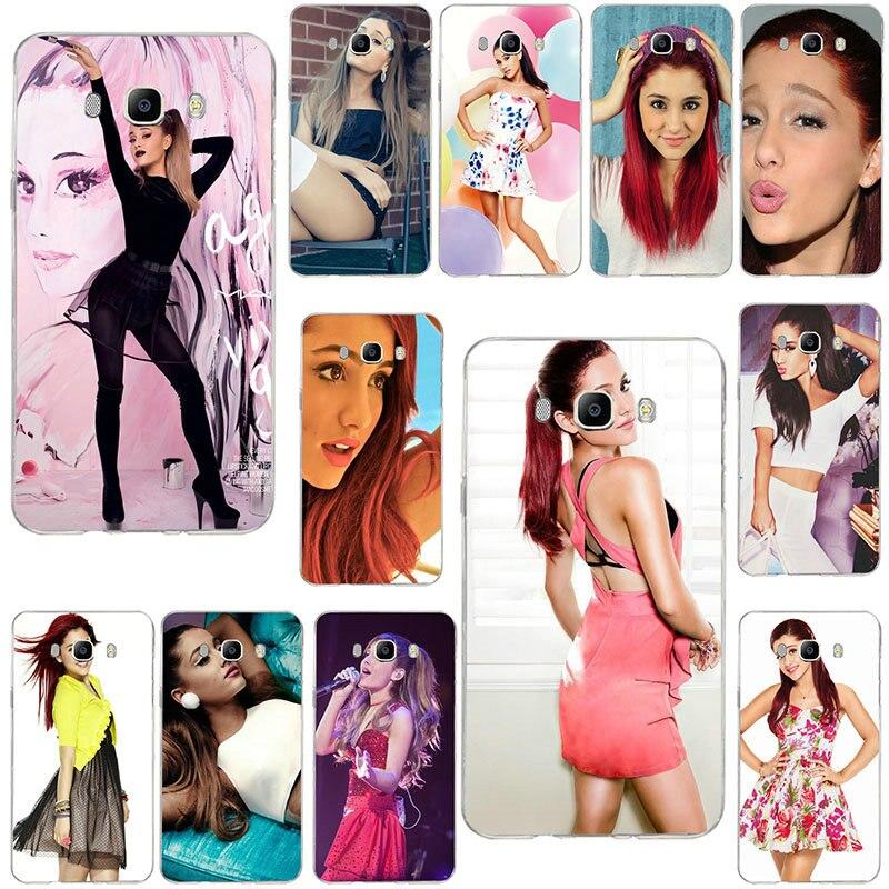 Ariana Grande en Vestido corto para Samsung Galaxy Core A3 A5 A7 A8 A9 A9S Star 2016 2017 2018 Pro Coque carcasa suave TPU cubierta