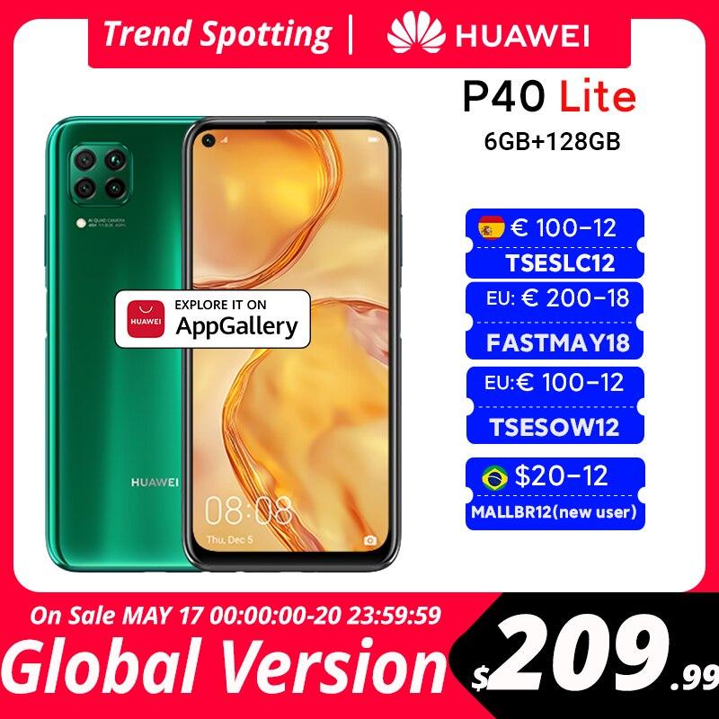 Перейти на Алиэкспресс и купить Глобальная версия Huawei P40 lite 6 ГБ 128 Гб Смартфон 48 МП AI камеры 6,4 ''FHD экран Kirin 810 Восьмиядерный 40 Вт QC