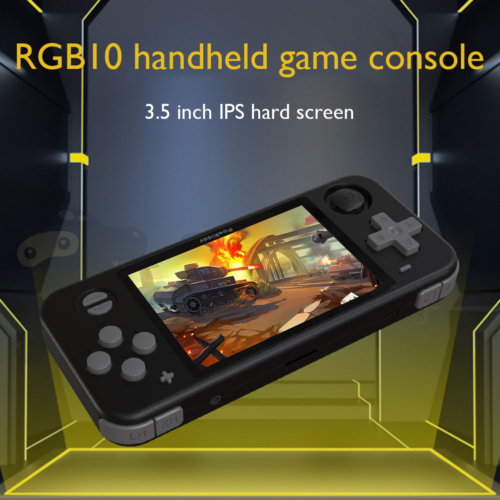 Powkiddy RGB10 max Pro Retro Handheld Game Console For PSP N64 PS Game Player Double Joystick Open Source 3D Video MP4 Players