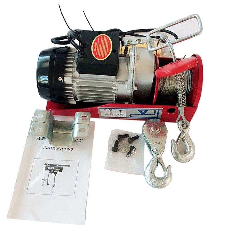 Ue plug grua elétrica/com grua elétrica pa200 household guindaste cabo grua guincho elétrico motor hwc