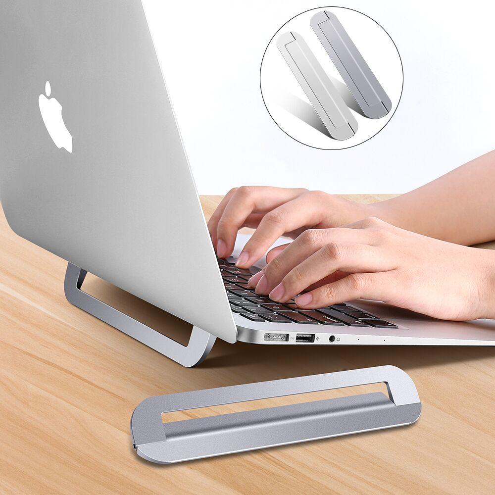محمول محمول حامل الألومنيوم طوي دفتر دعم حامل الكمبيوتر المحمول قابل للتعديل اللوحي قاعدة للكمبيوتر ماك بوك برو دفتر حامل