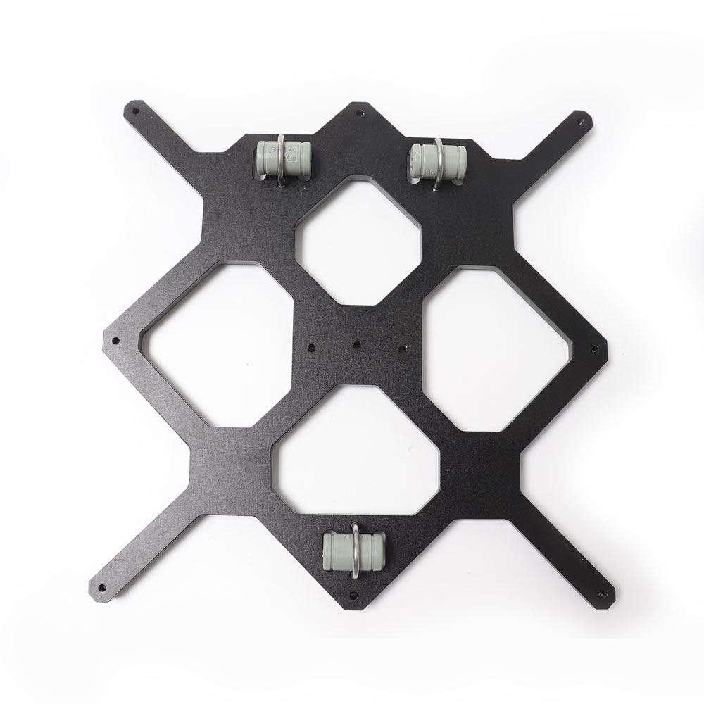 Y Wagen Platte Schwarz farbe Reprap Prusa i3 MK3 Aluminium bett unterstützung Für DIY Prusa i3 3D Drucker 3 stücke LM8UU drylin RJ4JP-01-08