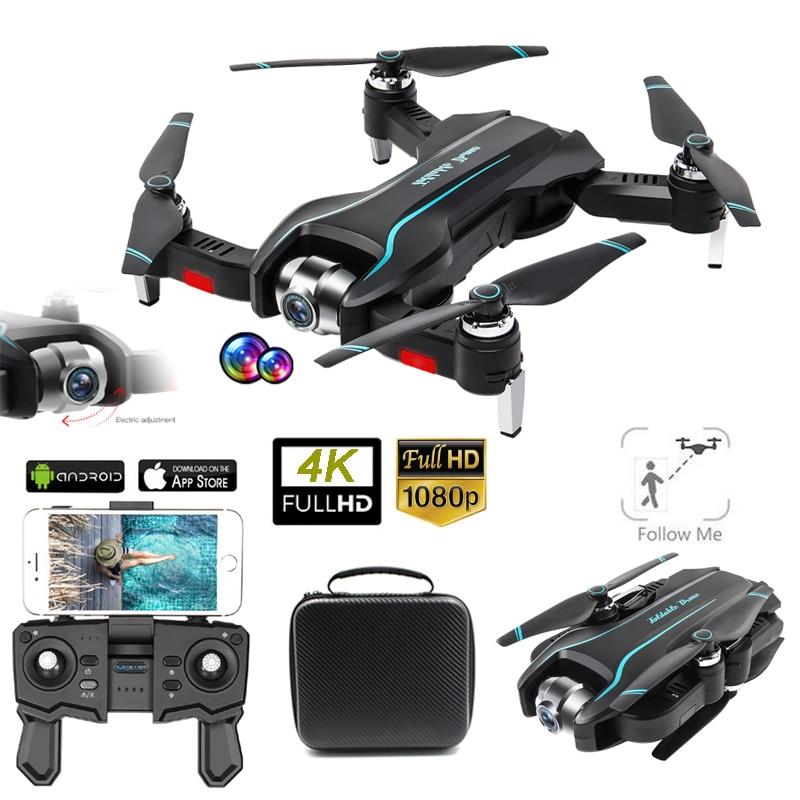 S17 Drone 4K Cámara ajustable gran angular Quadcopter flujo óptico Dron 2,4g WIFI plegable RC Drone FPV MANTENIMIENTO DE ALTURA Drohne