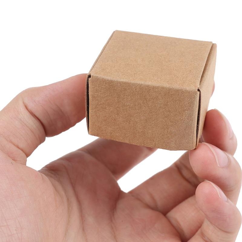 10 unidades de Mini caja de papel Kraft de alta calidad para casa de muñecas, accesorios de juguete