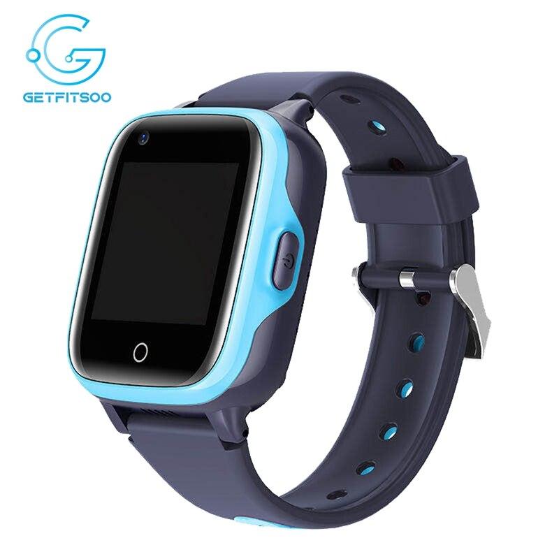 Getfitsoo جي بي إس الساعات الذكية للأطفال أندرويد 4G سيم بطاقة مكالمة فيديو KT15 مقاوم للماء SmartWatch هاتف صغير SOS مكافحة خسر المقتفي