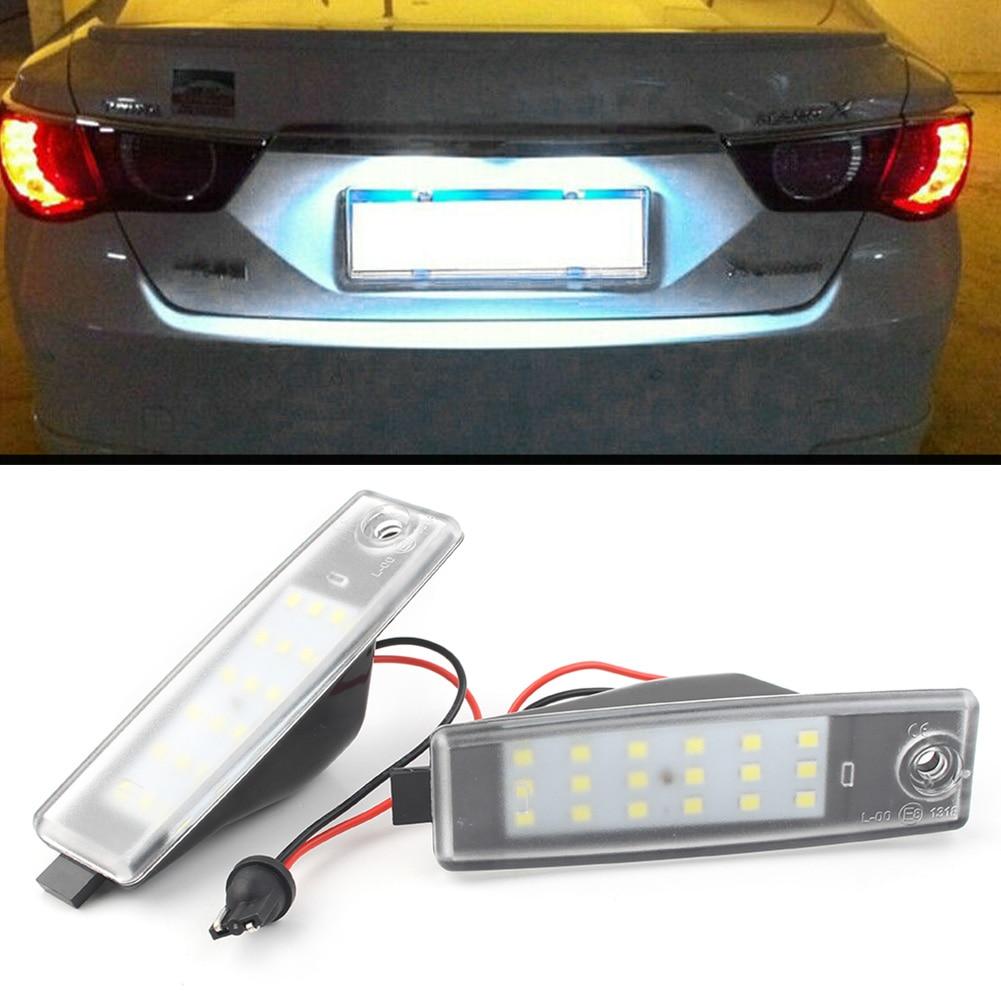 Plaque d'immatriculation de voiture avec éclairage LED, 2 pièces, pour Toyota Rav4 Hiace H200 Vanguard ACA33W