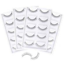 10/20 Pairs Training False Lashes False Eyelash Extension Practice Lashes Beginners Self Adhesive La