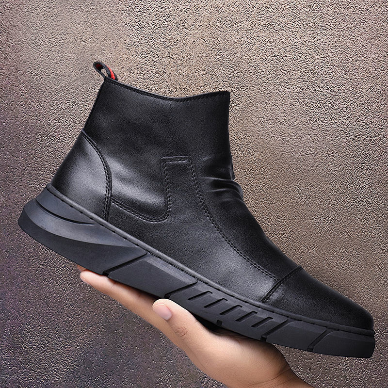 Winter Chelsea Boots Men Leather Shoes Ankle Fashion Brand Autumn Male Footwear 2021 new