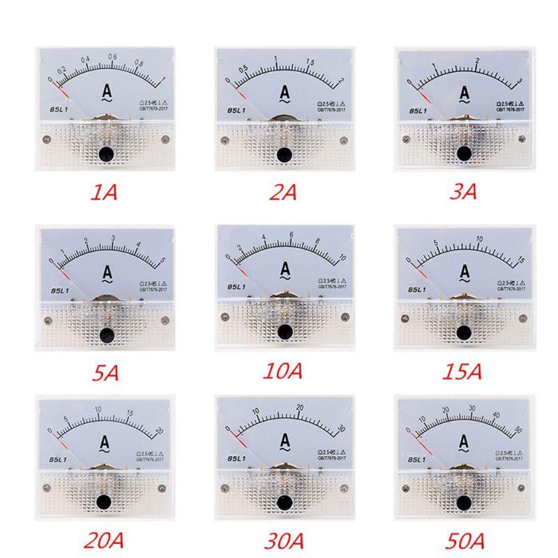 85L1 AC Panel Meter Analog Panel Ammeter Dial Current Gauge Pointer Ammeter 37MD