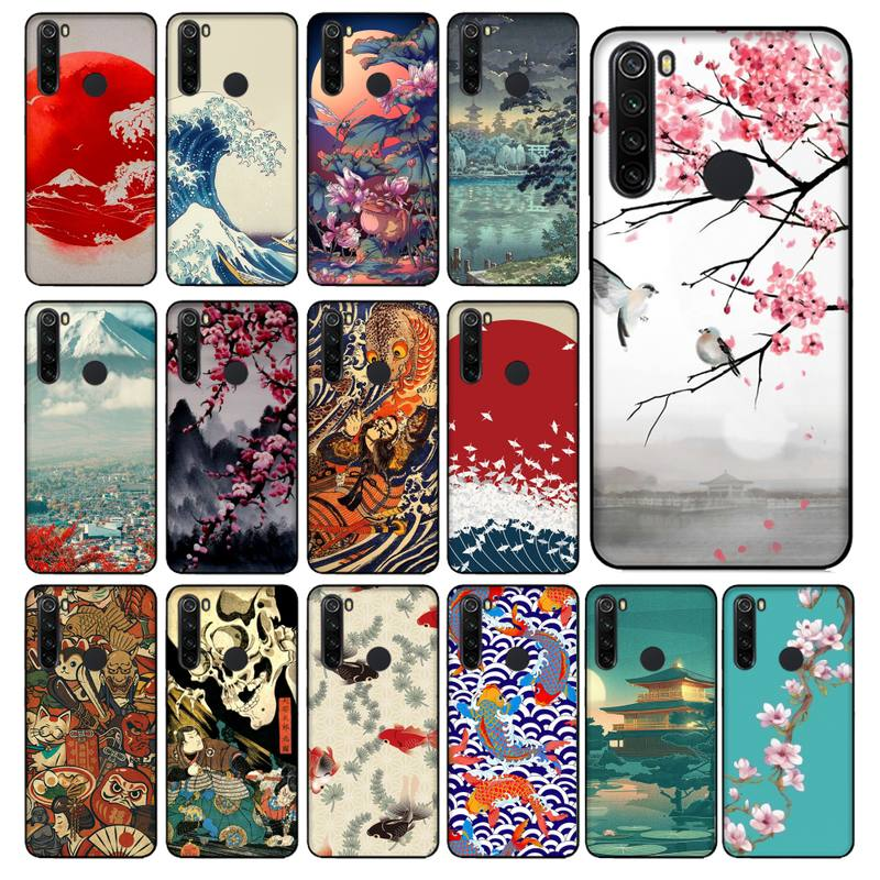 YNDFCNB Japanese style Art Japan Soft Phone Case Cover for Xiaomi Redmi 5 5Plus 6 6A 4X 7 8 Note 5 5