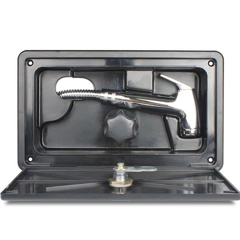 RV Shower Box Kit With Lock-Includes Shower Faucet, Shower Hose, Shower Wand Boat Marine Camper Motorhome Caravan enlarge