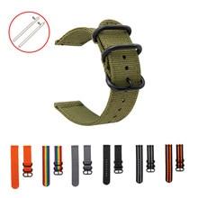 18-24mm Quick Release Nylon Uhr Band Schwarz Ring Schnalle Military Leinwand Armband 20mm 22mm armband für Samsung Apple