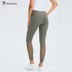 TEHEZAD Yoga Pants Women Sport Elastic High Waist Push up Sportwear Gym Clothing Tights Fitness Running Plus Size leggings