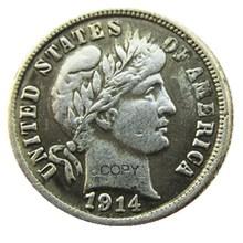 Pièces en papier plaqué argent   Barbier américain, 1914 P/S