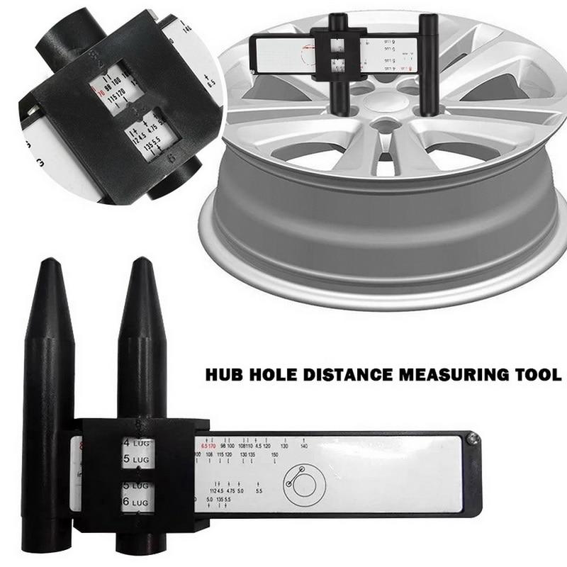 Calibrador PCD, herramienta de mano con 8 orificios, 4, 5, 6, 8 orificios, herramienta de Medición de distancia de orificios, regla de buje de rueda, calibrador de patrón de oruga