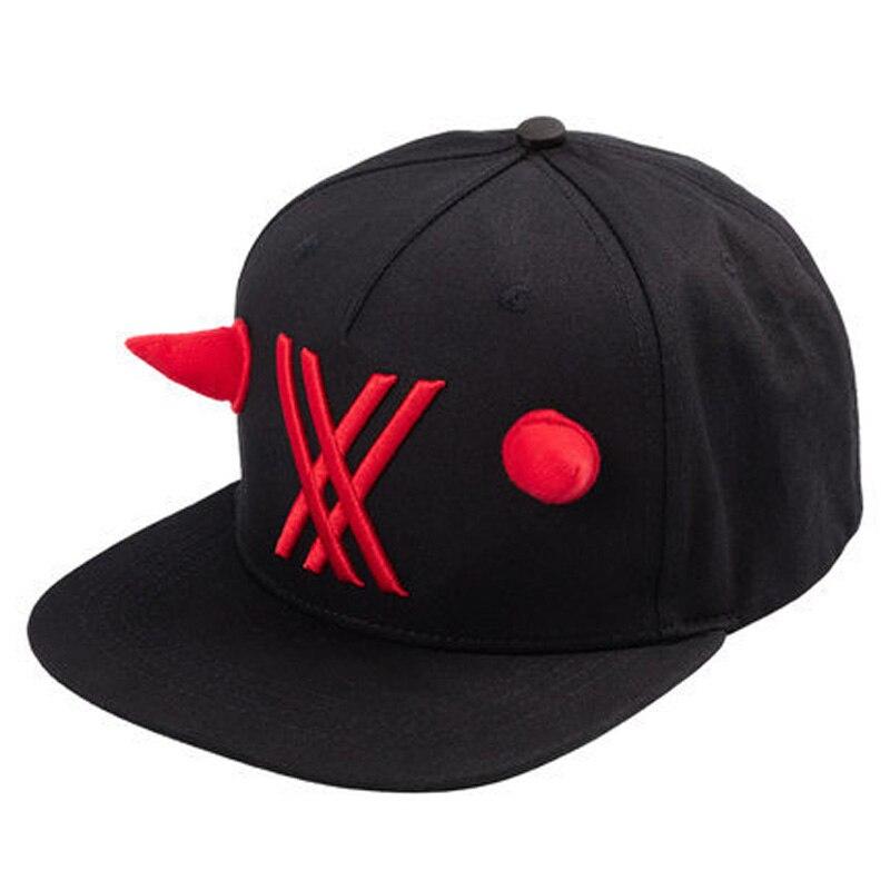 OHMETOY cero dos negro béisbol sombrero Cosplay ajustable visera de Sol de regalo de cumpleaños de niños